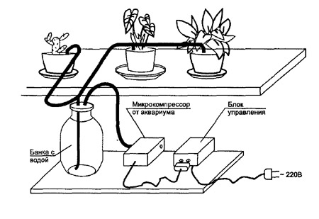 Схема автоматического полива