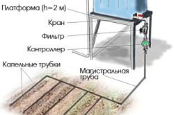 Схема простой садовой системы капельного полива