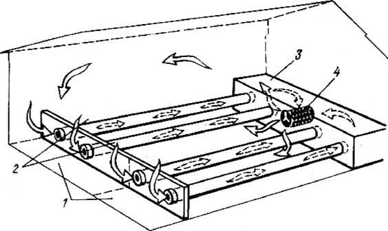 Схема теплицы с аккумуляцией