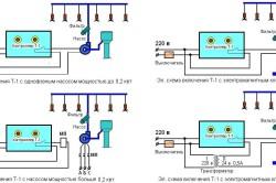 Варианты схем устройства капельного полива
