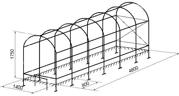Схема арматуры парника