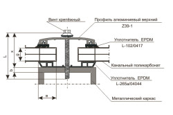 Схема крепления поликарбонатных листов