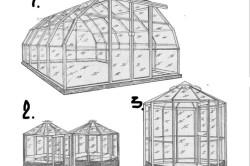 Конструкции разборных передвижных теплиц