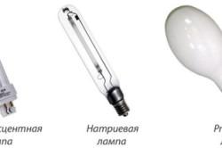 Основные виды ламп для теплиц