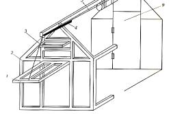 Схема автоматической вентиляции теплицы