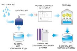 Схема фертигации системы капельного полива