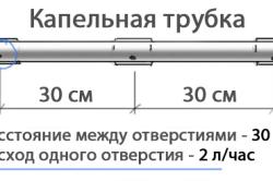 Схема капельного полива с помощью труб своими руками