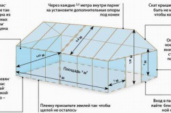 Схема монтажа теплицы из поликарбоната.