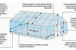 Схема монтажа теплицы из поликарбоната
