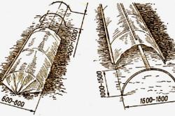 Схемы размера пленочных теплиц.