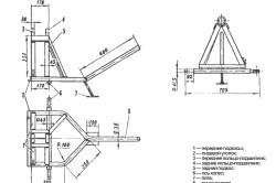 Схема основания бетономешалки.