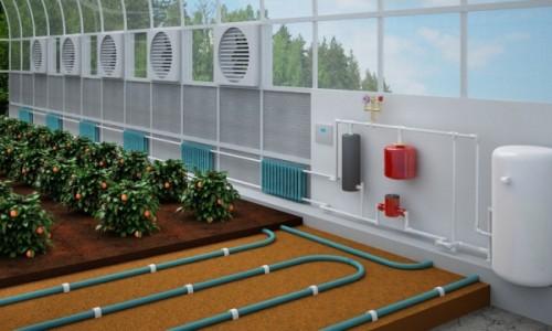 Система газового отопления теплицы