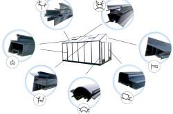Виды алюминиевого профиля, использующегося для строительства теплиц.
