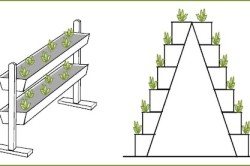 Примеры устройств для вертикальной культуры земляники