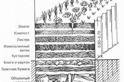 Схема грунта для теплой грядки