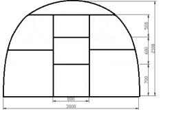 Схема размеров теплицы