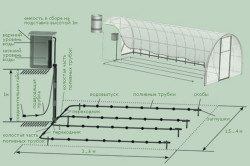 Схема устройства капельного полива в теплице