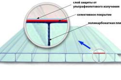 Схема устройства поликарбонатного листа