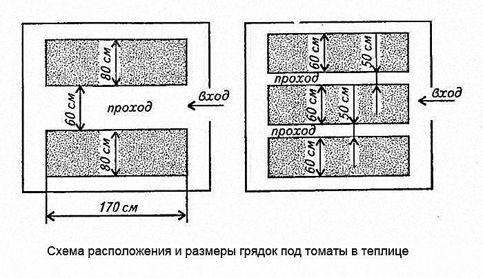 Схема расположения и размеры