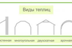 Схема видов теплиц