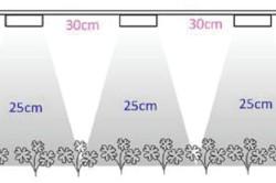 Схема размещения ламп