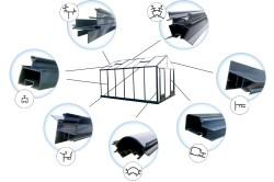 Виды алюминиевого профиля использующегося для строительства теплиц